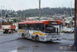 In 1996 180 was carrying this scheme in Launceston promoting the advantages of Bartercard