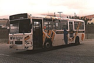 Bus 70 advertising the introduction of a new ticketing system for Metro.